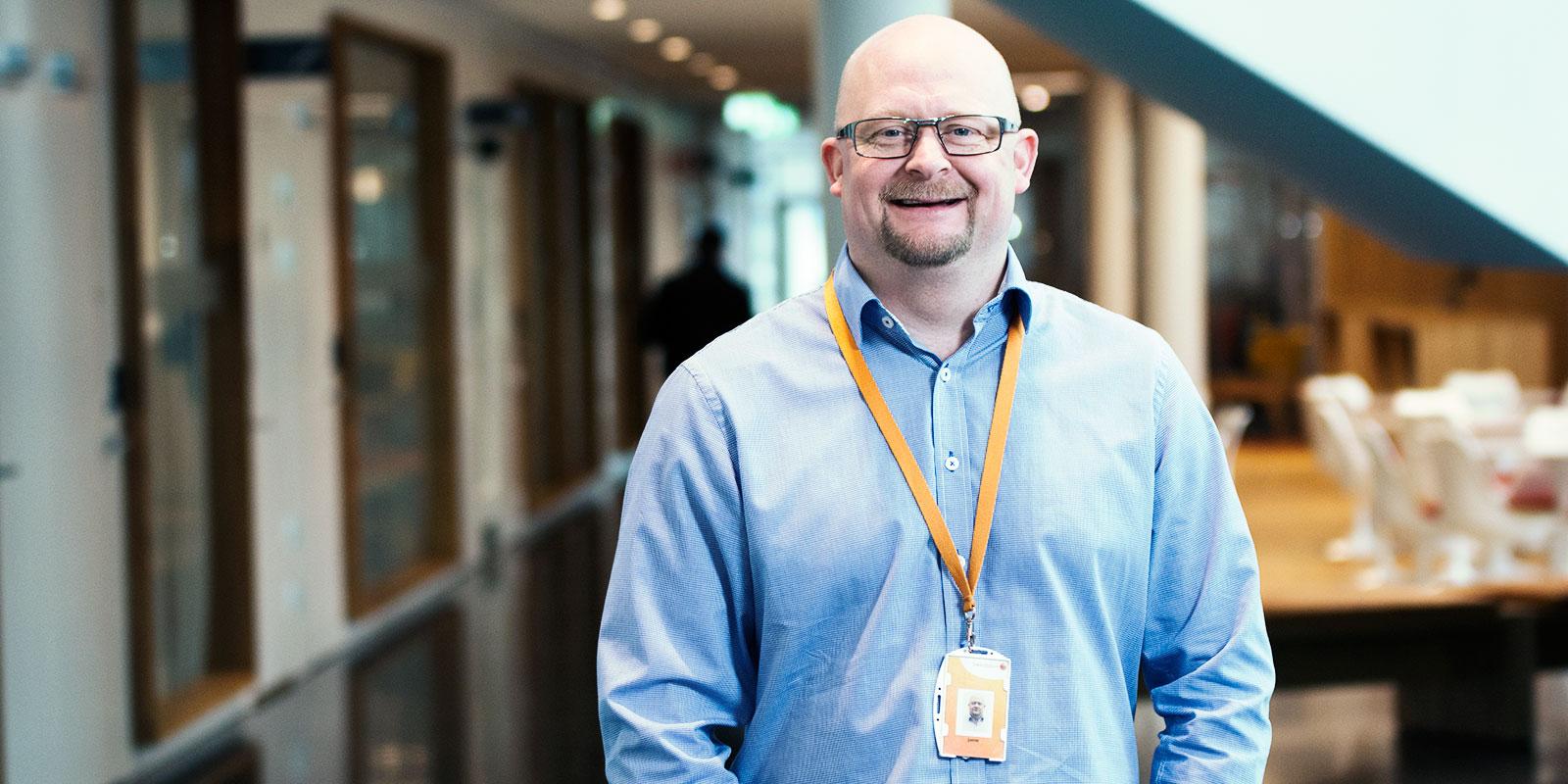 Janne Björklund, chef för Swedbanks interna servicetjänster