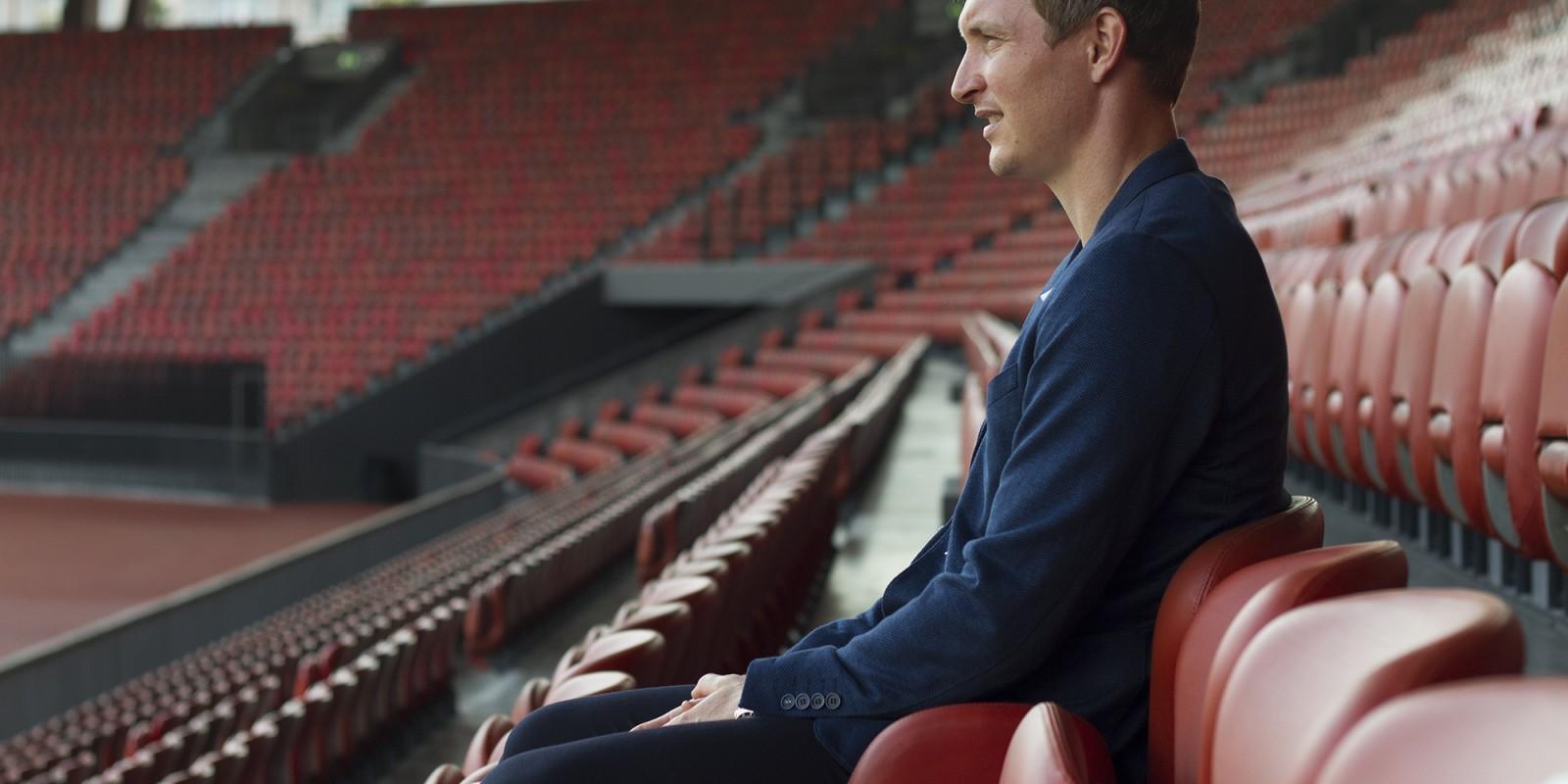 """""""Jag är inte född med den absolut största talangen för att spela fotboll. Men jag har jobbat hårt. Extremt hårt"""" säger Kim Källström"""