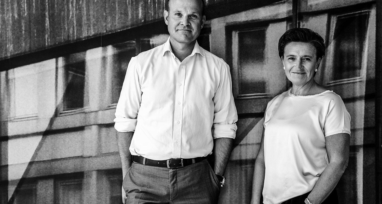 Joacim Damgard, Operativ chef på Microsoft CEE, och Monica Lingegard, vd på Samhall