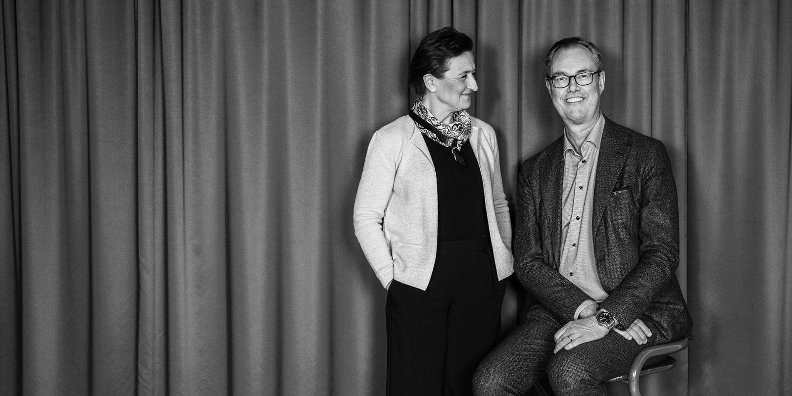 Monica Lingegård och Per Strömberg, VD för ICA